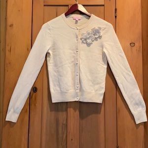 Lilly Pulitzer cashmere  blend cream cardigan M